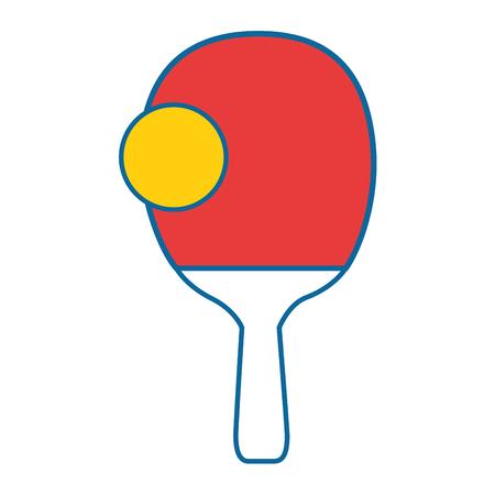 탁구 라켓 아이콘 벡터 일러스트 그래픽 디자인