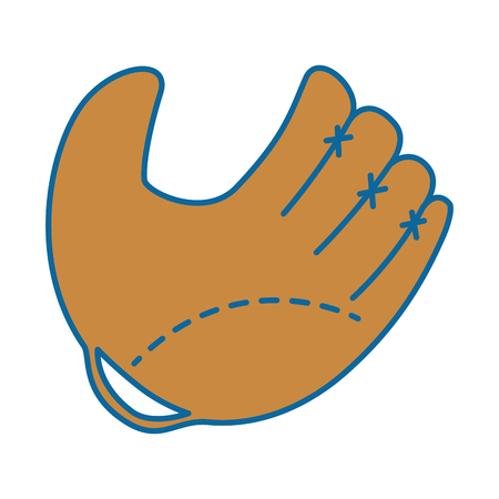 baseball glove sport icon vector illustration graphic design