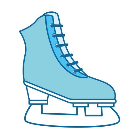 Sport ice skates icon vector illustration graphic design