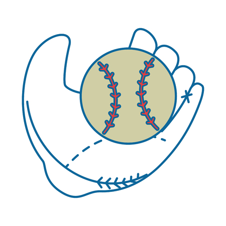 baseball glove sport icon vector illustration graphic design