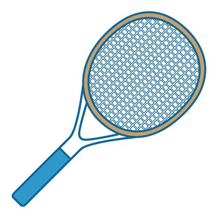 tennisracket geïsoleerd pictogram vector illustratie grafisch ontwerp Stock Illustratie