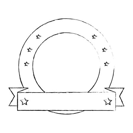 Diseño gráfico aislado emblema vacío vector ilustración diseño Foto de archivo - 85073180