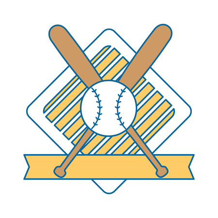 baseball sport emblem icon vector illustration graphic design Ilustração