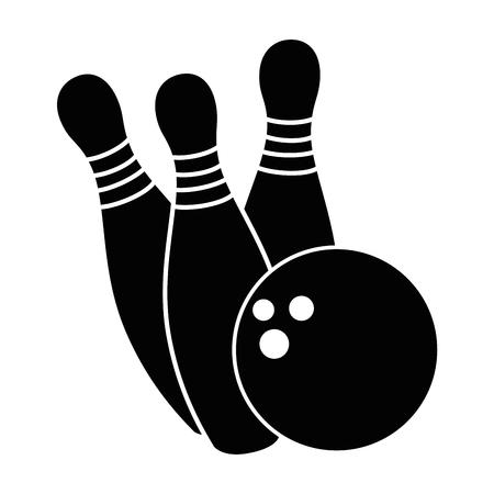 ボウリングのボールや松スポーツ アイコン ベクトル イラスト デザイン