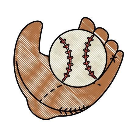 baseball sport emblem icon vector illustration graphic design Illustration