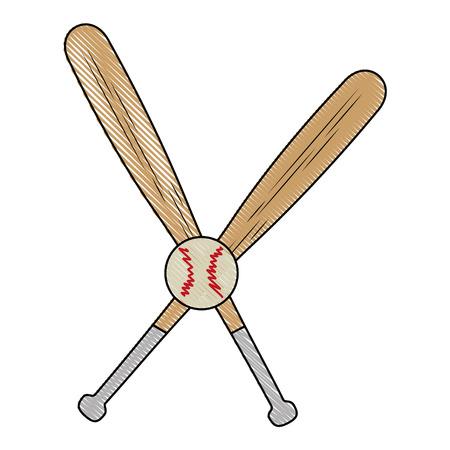 박쥐 야구 스포츠 아이콘 벡터 일러스트 그래픽 디자인