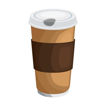 koffie papier glas pictogram vector illustratie grafisch ontwerp