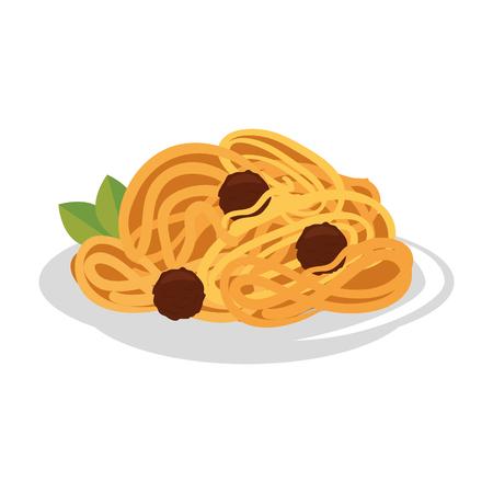 spaghetti illustration icon vector illustration graphic design