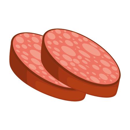 スライス ソーセージ肉アイコン ベクトル イラストレーション グラフィック desgn  イラスト・ベクター素材