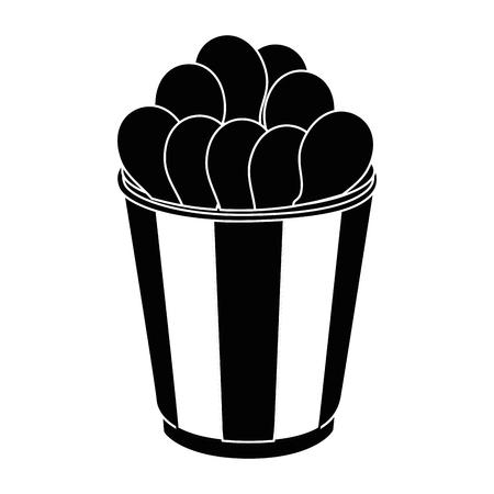 chicken drumsticks food vector icon vector illustration graphic design Illustration