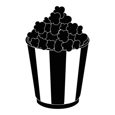 pop corn: popcorn paper snack icon vector illustration graphic design Illustration