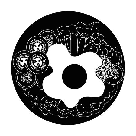 Vektor-Grafikdesign des Eifrühstücks Gourmet-Vektorillustration Standard-Bild - 85073447