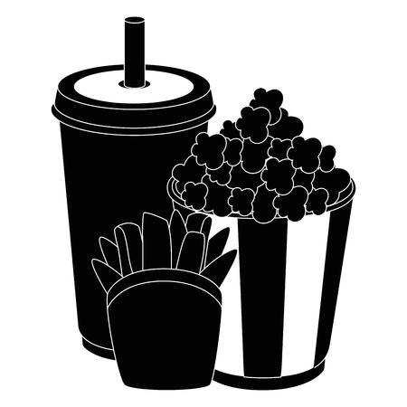 cinema food snacks icon vector illustration graphic design Ilustração