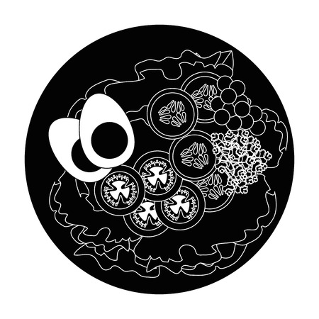Ei ontbijt Gourmet Icon Vector illustratie grafisch ontwerp Stockfoto - 85068107