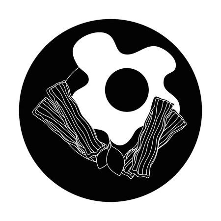 egg breakfast gourmet icon vector illustration graphic design