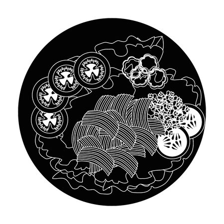 salad plate gourmet icon vector illustratrion praphic design
