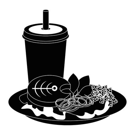 fish steak seafood icon vector illustration graphic design