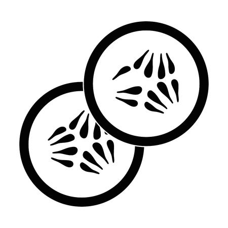 lemon slice vector icon vector illustration graphic design