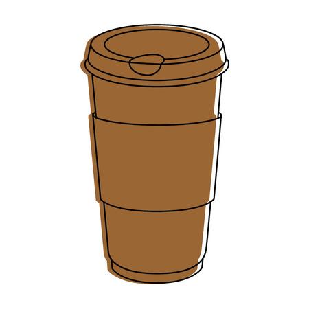 Coffee to go icon vector illustration graphic design Ilustrace