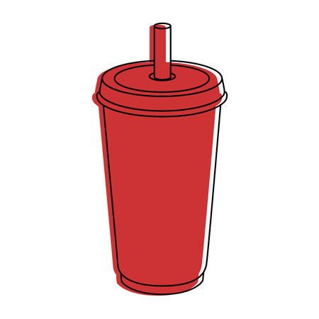 Soda palstic cup icon vector illustration graphic design Ilustração