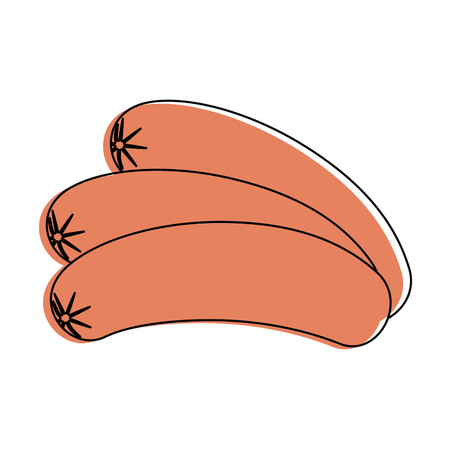 sliced sausage meat icon vector illustration graphic desgn Illustration