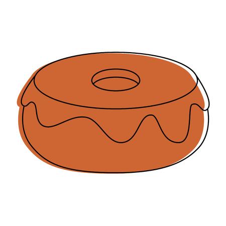 glazed donuts dessert icon vector illustration graphic design