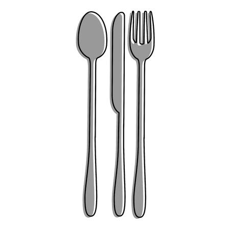 カトラリーキッチン道具アイコンベクトルイラストグラフィックデザイン