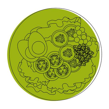 Colazione uovo gourmet icona illustrazione vettoriale illustrazione grafica Archivio Fotografico - 85075867