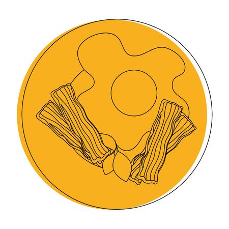卵朝食グルメ アイコン ベクトル イラスト グラフィック デザイン