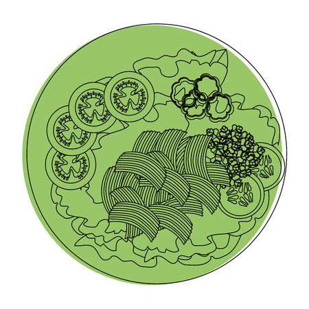 salad plate gourmet icon vector illustratrion praphic design