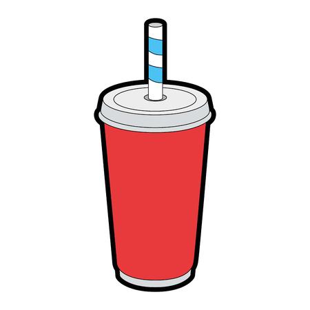 ソーダ palstic カップアイコンベクトルイラストグラフィックデザイン  イラスト・ベクター素材