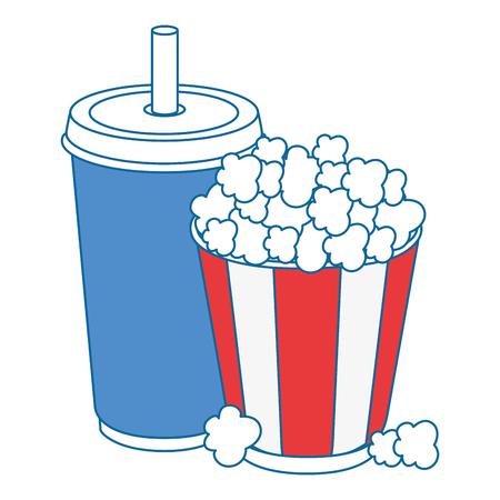 popcorn paper glass icon vector illustration graphic design Illustration