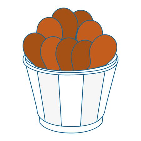 chicken drumsticks vector icon vector illustration graphic design
