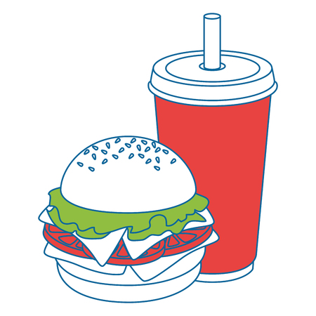 hamburger meat illustration icon vector illustration graphic design