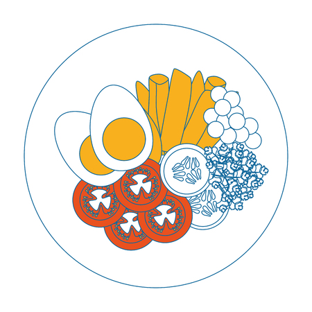Vektor-Grafikdesign des Eifrühstücks Gourmet-Vektorillustration Standard-Bild - 85077588