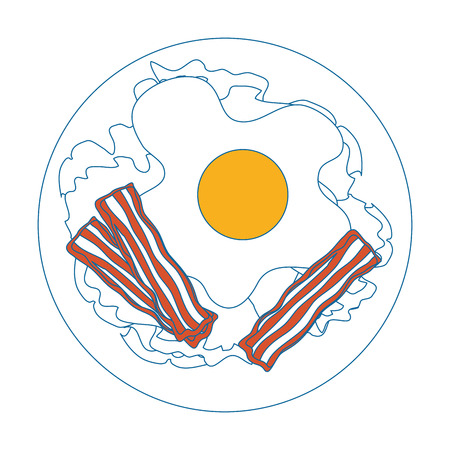 egg breakfast gourmet icon vector illustration graphic design