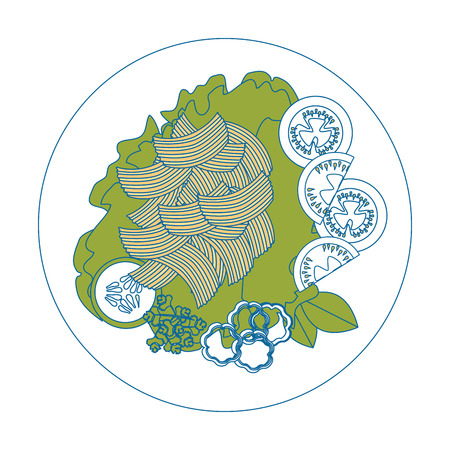 Salatplatte Gourmet-Symbol Vektor illustratrion praphischen Design Standard-Bild - 85077593
