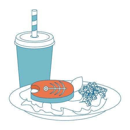 fish steak illustrated icon vector illustration graphic design