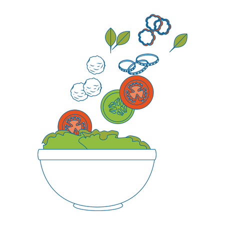 salad bowl gourmet icon vector illustratrion praphic design