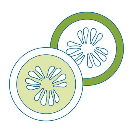 lemon slice vector icon, vector illustration graphic design Ilustração