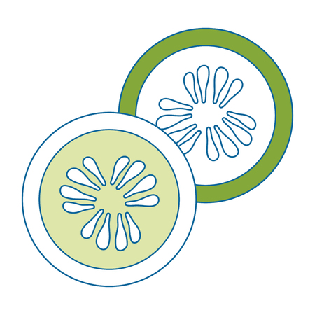 lemon slice vector icon, vector illustration graphic design Illustration