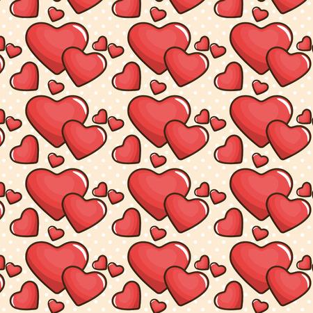 Diseño gráfico del ejemplo del vector del icono del cartel del amor de San Valentín Foto de archivo - 85076200