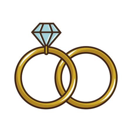 boda anillo de diamantes icono ilustración vectorial diseño gráfico Ilustración de vector