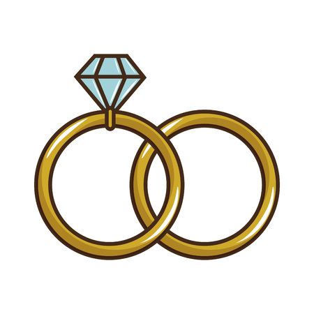 wedding diamond ring icon vector illustration graphic design Stock fotó - 85076202