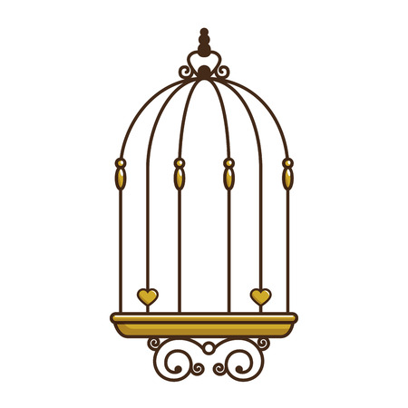 bird cage vintage icon vector illustration, graphic design Stock Vector - 85076211