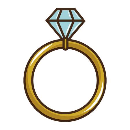 Hochzeit Diamant-Ring-Symbol Vektor-Illustration Grafik-Design Standard-Bild - 85076209