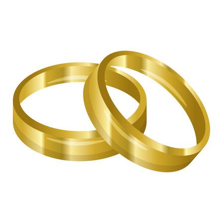 結婚指輪は結婚のアイコン ベクトル イラスト グラフィック デザイン  イラスト・ベクター素材