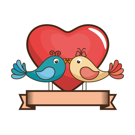 diseño gráfico del ejemplo del vector del icono de los pájaros precioso de la casa Ilustración de vector