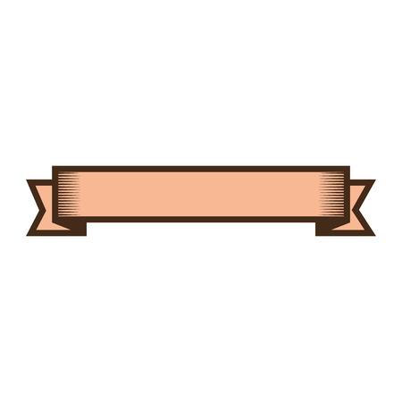 Leeg vector de illustratie grafisch ontwerp van het lintbannerpictogram Stock Illustratie
