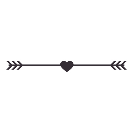 heart valentine arrowed icon, vector illustration, graphic, design